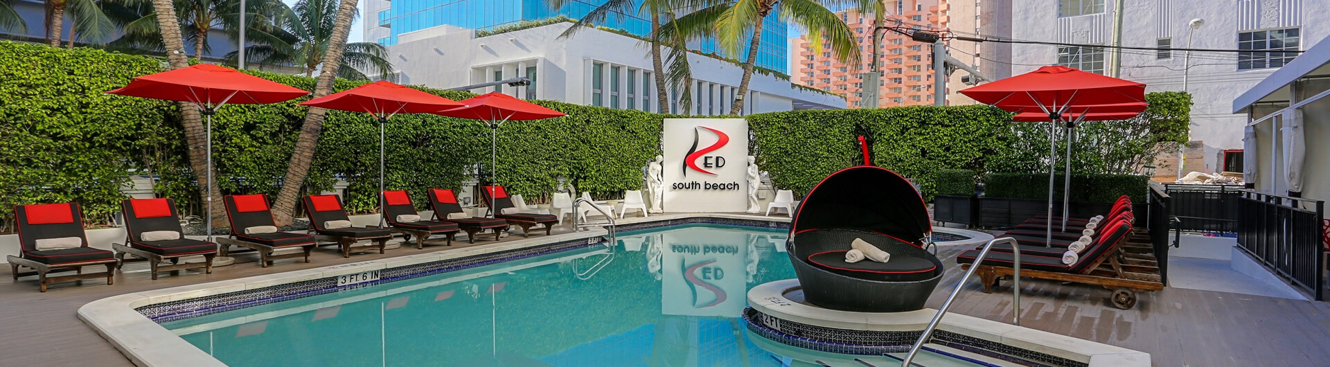 Fl Red South Beach Pool Hotel