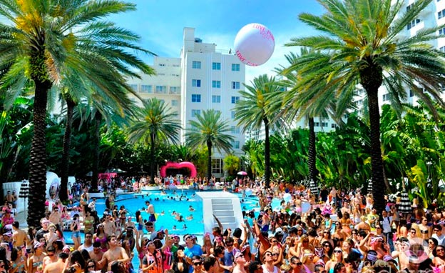 Best Pool Parties South Beach Miami
