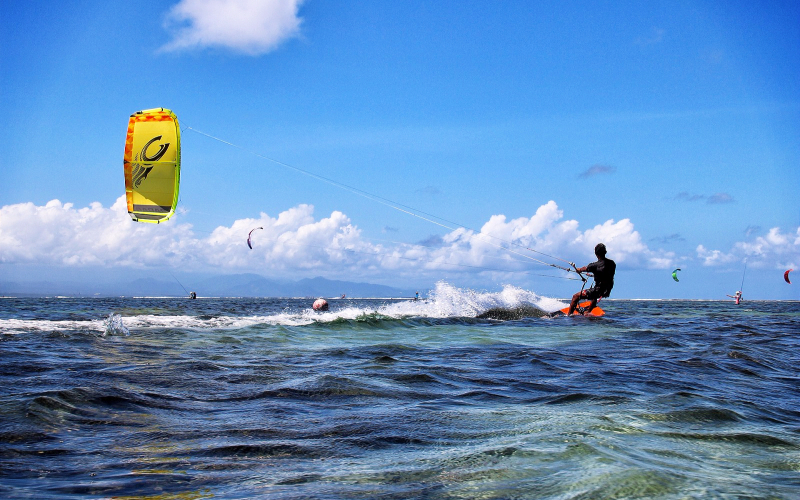 Kite Surf In South Beach Miami